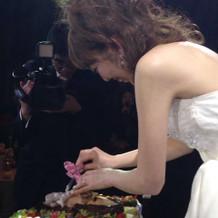ケーキのお顔剃り