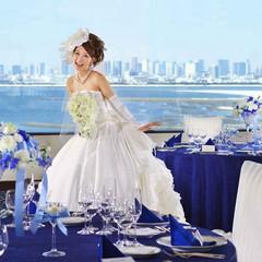 東京湾を一望できる最上階会場は、人気の会場の一つ!素敵な景色も演出に!!