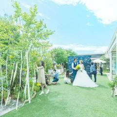 自由でアットホームな雰囲気でが人気のルメルシェ元宇品。ガーデンの木々に祝福され心に残るウェディングを。