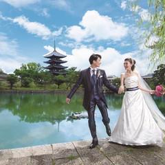 猿沢池と五重塔がおふたりの晴れの日を祝福します♪古都奈良の景色が一日中おふたりのものに!