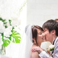 誓いのキス♪笑顔溢れるセレモニー♪