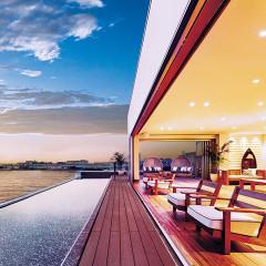 2015年3月、オープンを迎えたAMANDAN SAIL(アマンダンセイル)。おふたりの船出の時をゲストと共に祝福したい、そんな想いが込められている。西海岸のデザインホテルを彷彿させるミニマルなリゾート空間で優雅な一日を過ごして