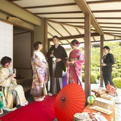 日本庭園では、当日お茶のサービスも!