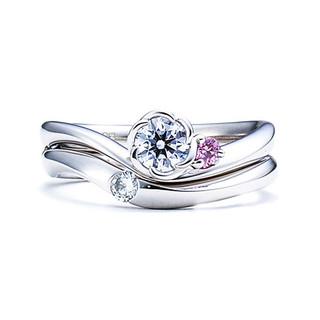 FLORA(フローラ)マリッジリング※双子ダイヤモンドモデル