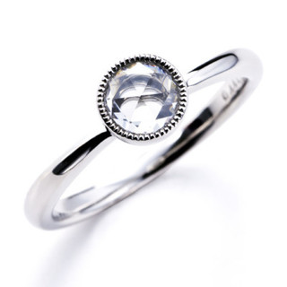ー Parulu ー PT900ローズカットダイヤモンドリング「望~のぞみ」