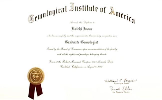 米国宝石学会公認鑑定士が常駐