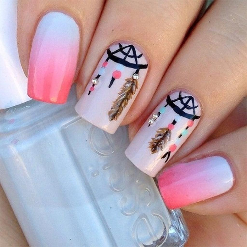 ピンクと白のグラデーション