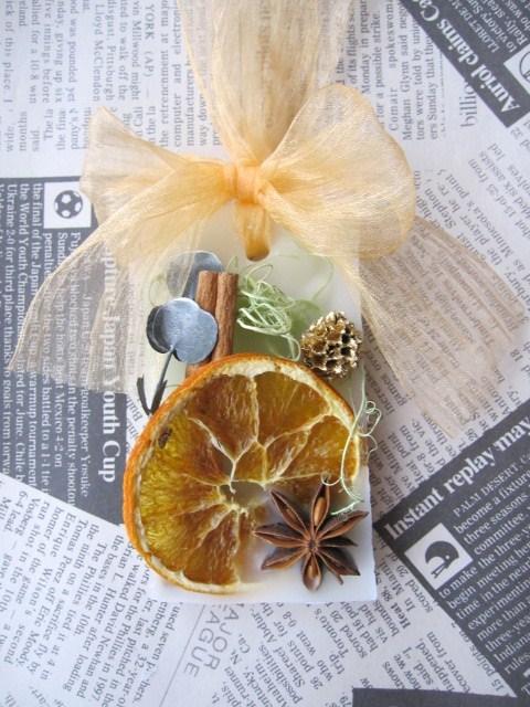 ドライオレンジやシナモン  アロマワックスバー
