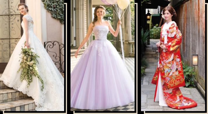 人気ブランドのドレスが選べる