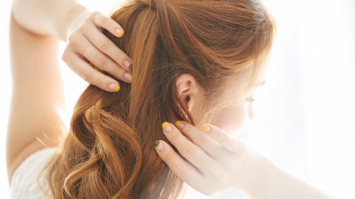 結婚式お呼ばれ髪型<ミディアム>ハーフアップヘアアレンジ
