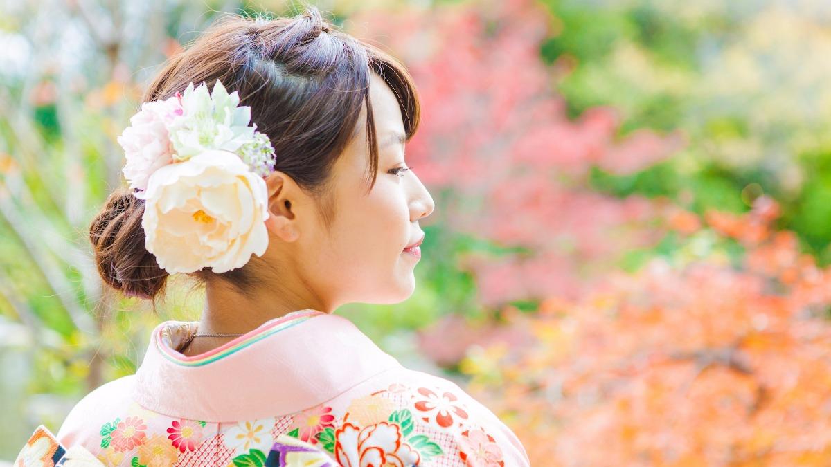 結婚式の和装前撮りの髪型・