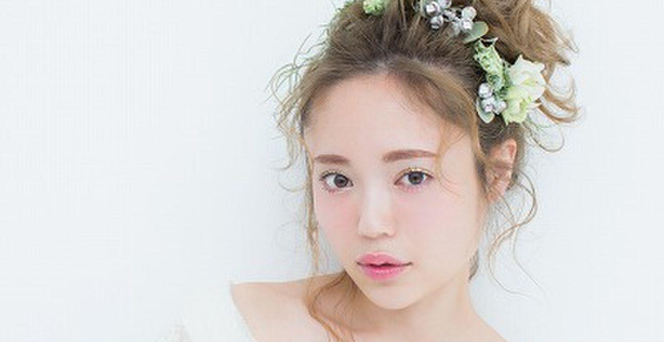 """4f724523041ab インスタで大人気!""""Mari""""の可愛い花嫁髪型ヘアアレンジ特集 ..."""