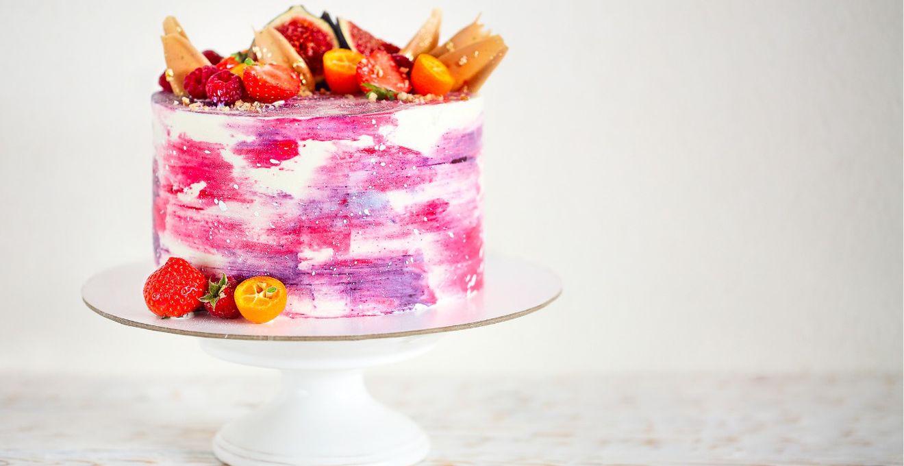 人と被らないデザインに*《ウォーターカラーケーキ》がかわいくっておしゃれ!