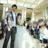 園児のみなさまのバブルシャワーに感涙…爽やかMay Wedding at「アニヴェルセル 柏」挙式編