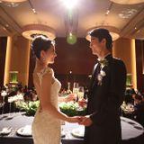 【結婚式拝見】高さのある花とガリア・ラハヴのドレスが映える♪長身カップルのラグジュアリーウェディング