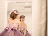 \ピンクと紫のいいところ取り/ラベンダーカラードレスが今ブーム!