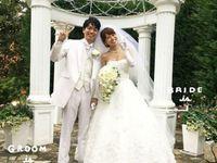 遠距離の準備期間を乗り越えて*憧れの「桂由美」ドレスをまとって幸せいっぱいの結婚式を