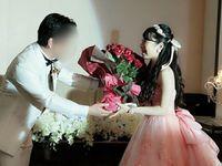 100本のバラの花束&手紙のサプライズプレゼント*披露宴レポ