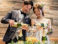 テーブルラウンドでフルーツたっぷりのシャングリラが完成!アットホームな結婚式