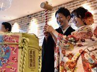 日本酒ラウンドに日本酒ビュッフェ*おふたりならではのおもてなしで楽しませる披露宴