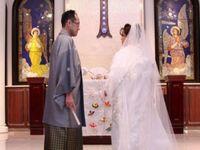 大聖堂での和装挙式。「自分たちらしい和婚」を叶えた理想の結婚式*