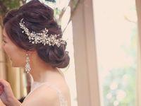 大ぶりイヤーアクセサリーが印象的*《オルガブランカ》のアクセサリーで上品で輝く花嫁に!