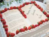 四角い1段ウェディングケーキなら♪本の形をした《ブックケーキ》はいかが?