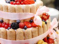 上品で愛らしいウェディングケーキ*《シャルロットケーキ》で他の花嫁さんと差をつけよう!