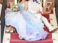 爽やかドレスで全身かわいい*冬婚にもおすすめ《グラデーションドレス》!
