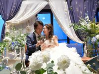 オーシャンビューでマリンテイストな大人結婚式♪ゲストと創り上げたサンドセレモニー