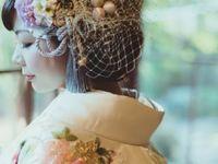 和装花嫁さん必見!和装髪型に似合う《リボン》ヘッドドレス特集*