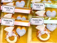 オリジナルデザインの《アイシングクッキー》を結婚式のプチギフトに!