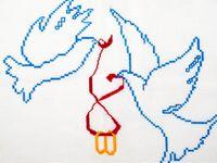 ほっこりするかわいさを手作りしちゃおう*《刺繍ウェルカムボード》の素敵な図案デザインご紹介♪
