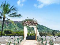 ダイアモンドヘッドを背に抜群のロケーションでフォトジェニックなハワイウェディングが叶う、「デックウエディング(Deck.WEDDING)」♪