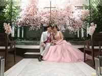 どこを切り取っても、フォトジェニック!満開の桜咲くチャペルウェディング