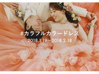 【Brides UP!】カラードレスの投稿イベント「#カラフルカラードレス」がスタート♪
