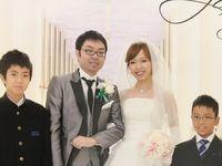 【結婚式拝見】結婚14年目の花嫁!息子さん2人が大活躍したファミリーウェディグ♪