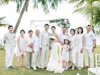 【結婚式拝見】ドレスコードにサプライズを秘めて!家族の笑顔が溢れたグアムウェディング