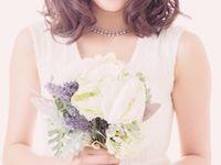 結婚式の花嫁向け< ミディアムヘア>髪型アレンジまとめ