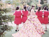 唯一無二のドレス!極彩色で差をつける「M / mika ninagawa」のウェディングドレス特集