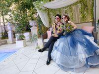【結婚式拝見】彼の提案もテーマを後押し♪インディゴブルーのデニムウェディング!