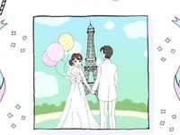 【フォトアイデア】パリで映画のワンシーンのようなウェディングフォトを♪