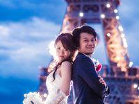 【結婚式拝見】気分はパリの花嫁♪心ときめく夜のガーデンウェディング