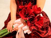 12月の結婚式にぴったり!真っ赤なウェディングドレスコーデ