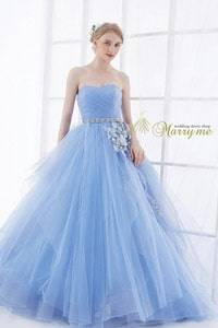 青・ブルー系のウェディングドレスを探す