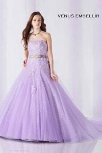 紫・パープル系のウェディングドレスを探す