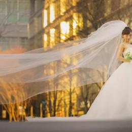 ドレス姿をさらに美しくさせる!ヴェラ・ウォンの《三段ベール》にうっとり*