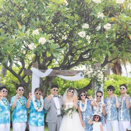ハワイ「ハレプナカイ」でファミリー婚♪青空の下で少人数のアットホームなウェディング