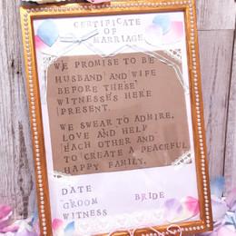 【プチプラDIY】フライングタイガーのスタンプで結婚証明書作り♪