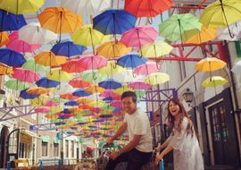 【結婚式拝見】「傘」をモチーフで取り入れた、6月のHappyウェディング♪